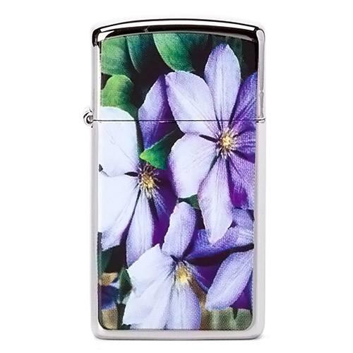 Bật Lửa Zippo 24525 - Slim Purple Flowers