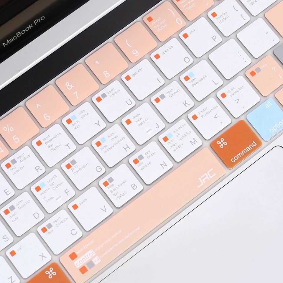 Phủ phím JRC Shortcut cho Macbook chính hãng tông màu cam