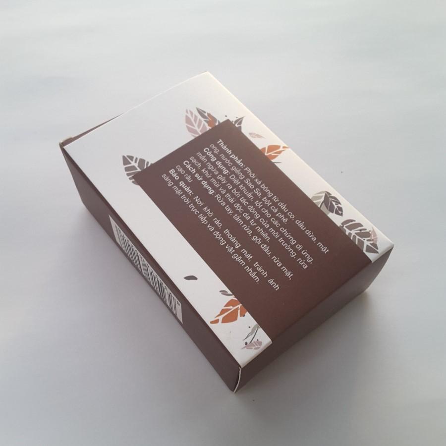 Xà bông Gió xà bông thảo dược Cà Phê hương Quế - 100% từ nguyên liệu tự nhiên
