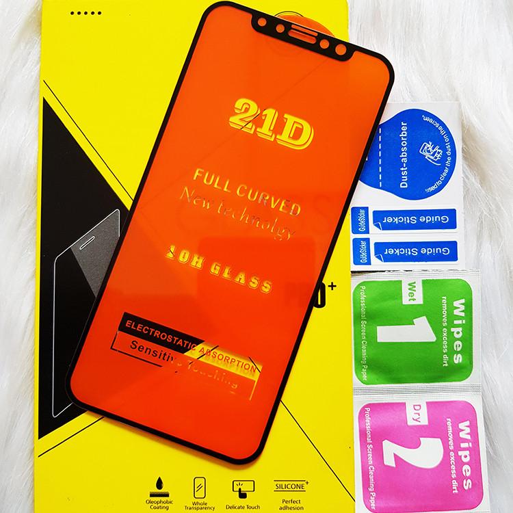 Kính Cường Lực 21D cho IPHONE X - XS Full Keo Màn Hình 21D SIÊU BỀN, SIÊU CỨNG, ÔM SÁT MÁY CAPARIES CHÍNH HÃNG