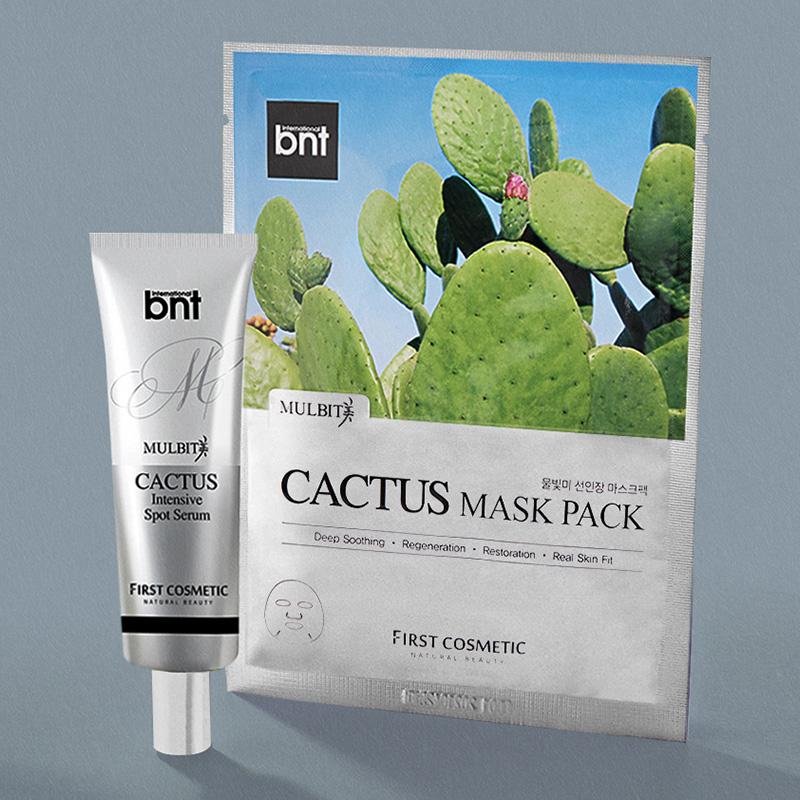Combo Mulbit Cactus: Dưỡng chất Serum (30g) Và Mặt Nạ Tinh Chất Cây Xương Rồng (10 Miếng)