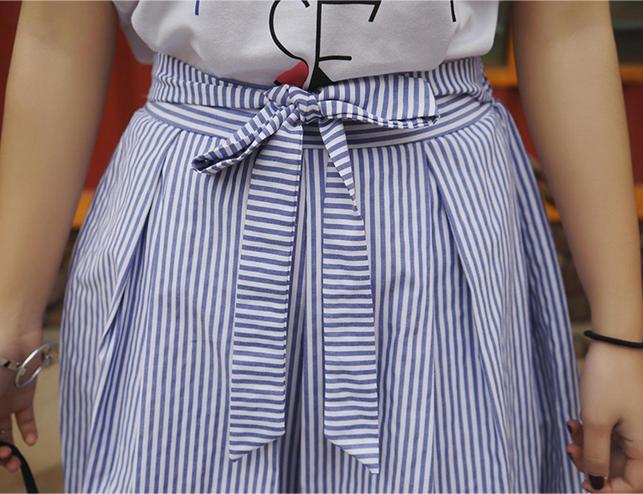 Sét áo thun và chân váy sọc Haint Boutique Qa20