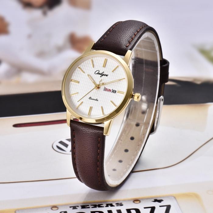 Đồng hồ Onlyou Nữ 81115LC Dây Da 30mm
