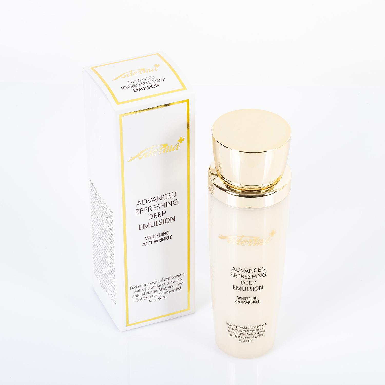Sữa dưỡng Puderma khắc phục các vấn đề cho da như mụn, thâm sạm, giúp làm trắng da mặt và chống lão hóa