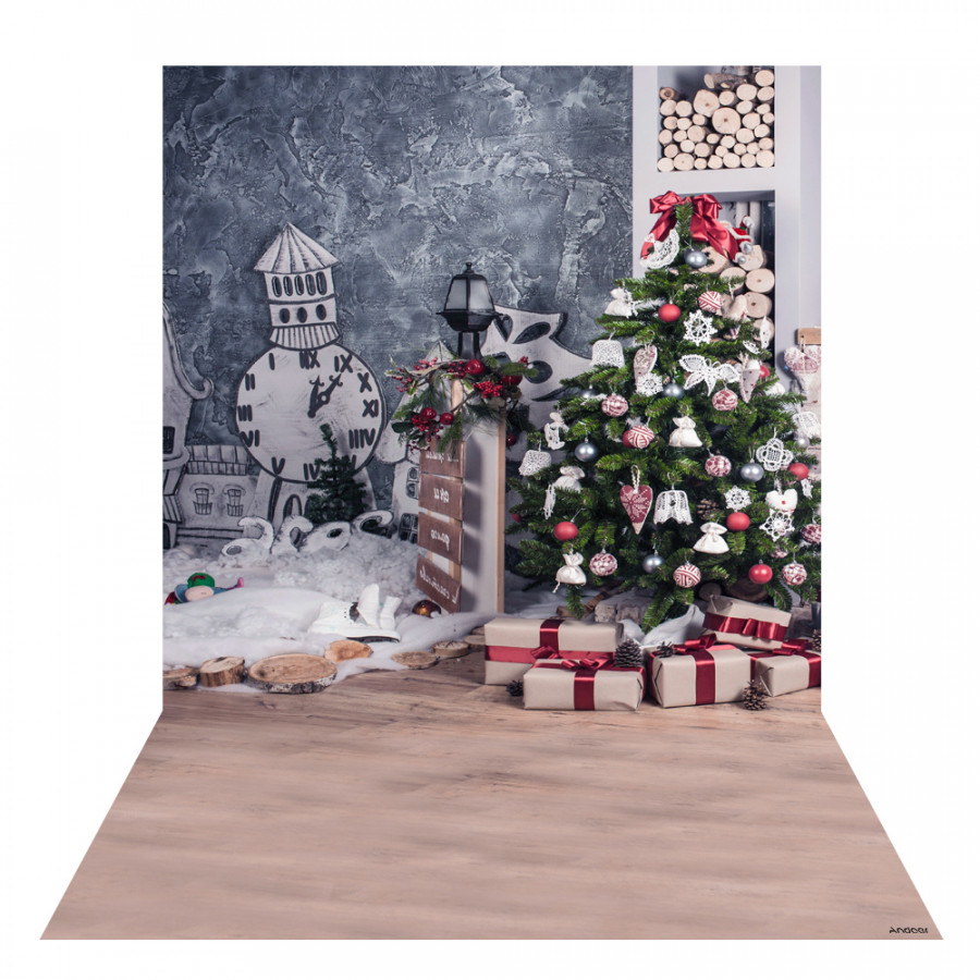 Andoer 1.5  2m Photography Background Backdrop Digital Printing Christmas Tree Gift Pattern for Photo Studio Pattern 23