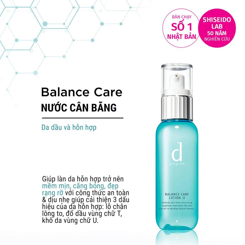 Nước cân bằng D Program cho da dầu và da hỗn hợp Balance Care Lotion 125ml