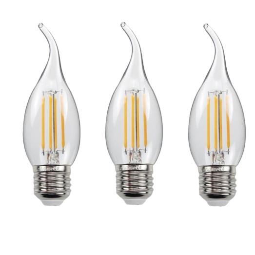Bộ 3 bóng đèn Led Edison C35 4W hình nến đui E27