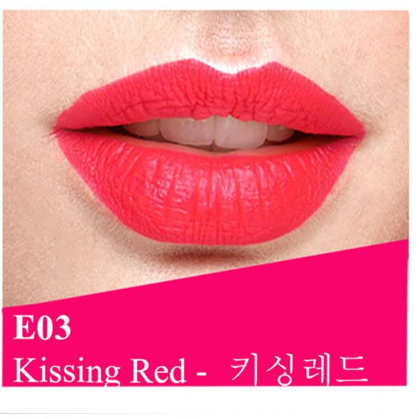 Son lì dưỡng, siêu mềm mượt Benew Perfect Kissing Hàn Quốc 3.5g E03 Kissing red tặng kèm móc khóa