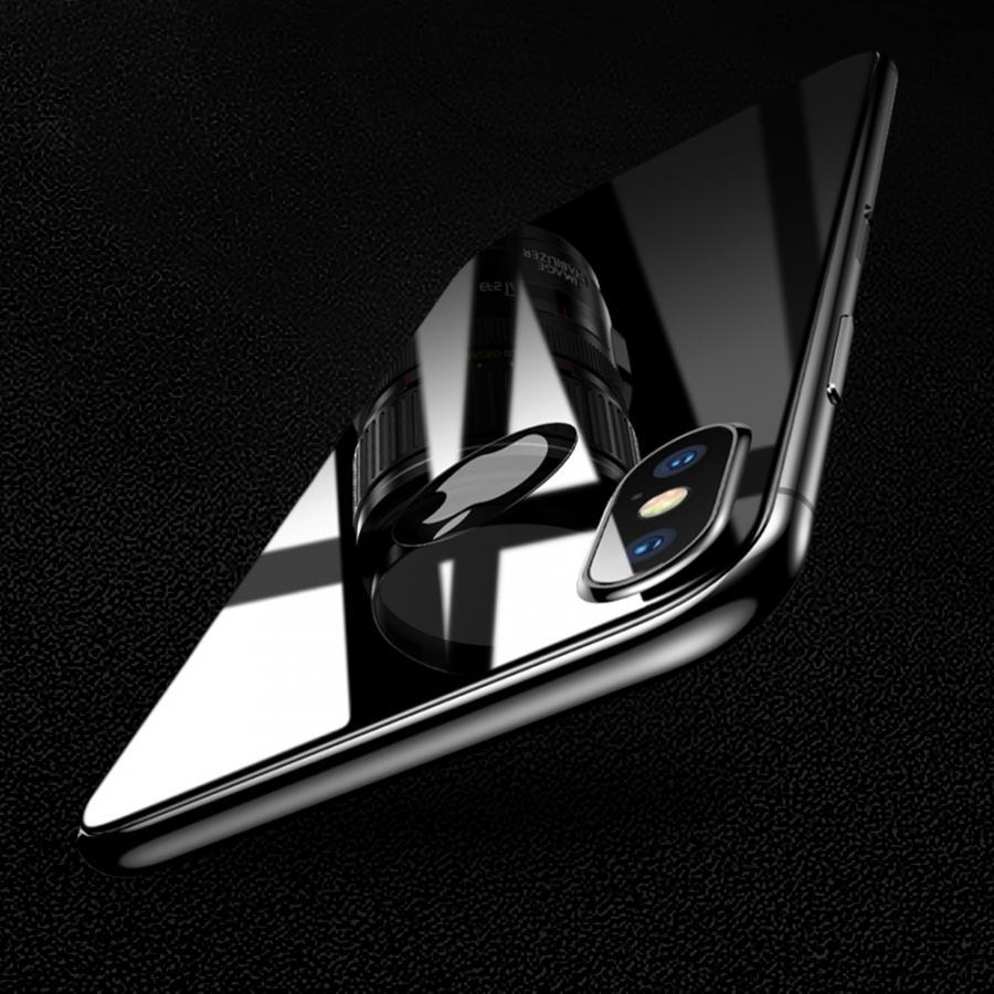 Miếng dán kính cường lực mặt sau lưng iPhone X Baseus mặt kính 9H - Hàng chính hãng