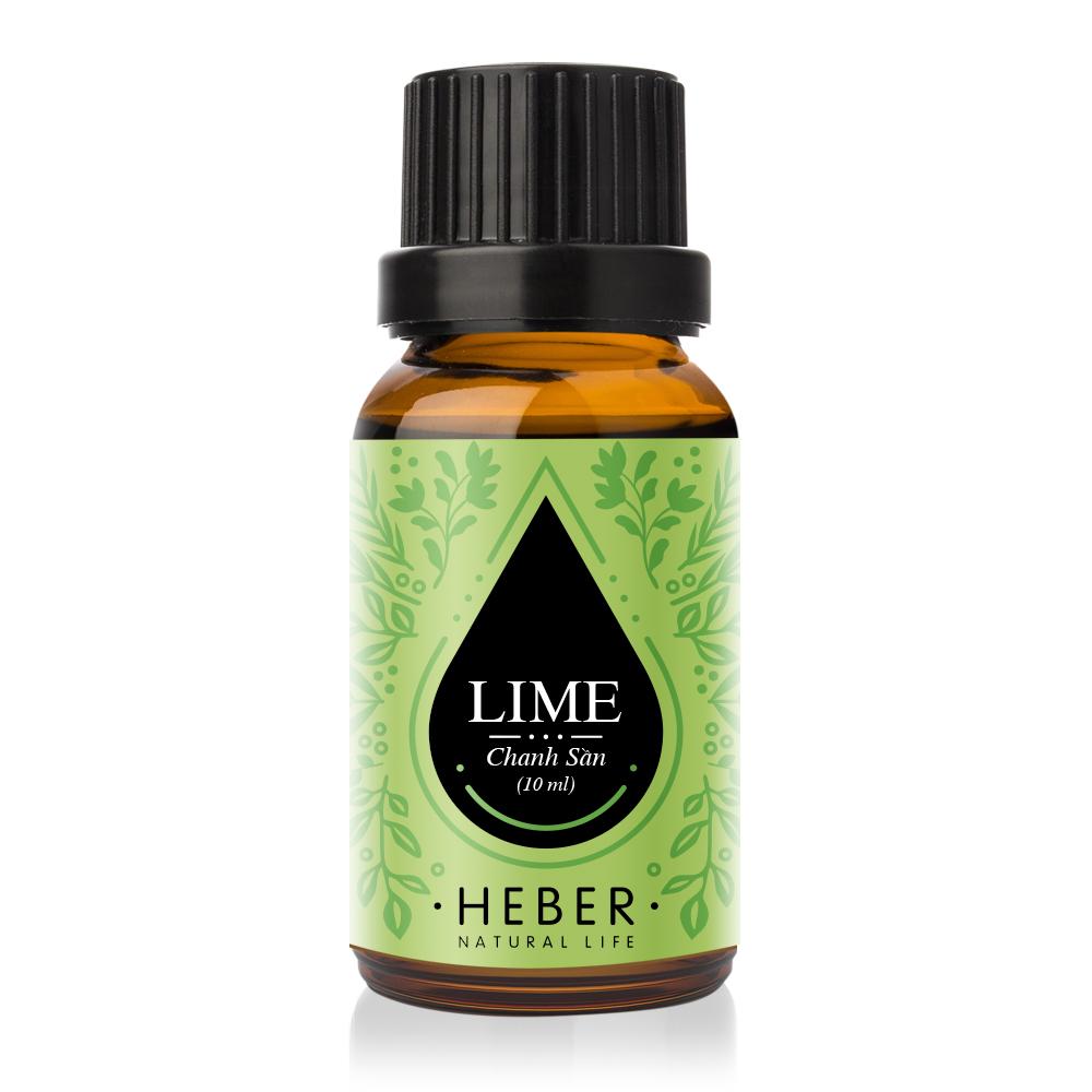 Tinh dầu Chanh Sần Lime Essential Oil Heber   100% Thiên Nhiên Nguyên Chất Cao Cấp