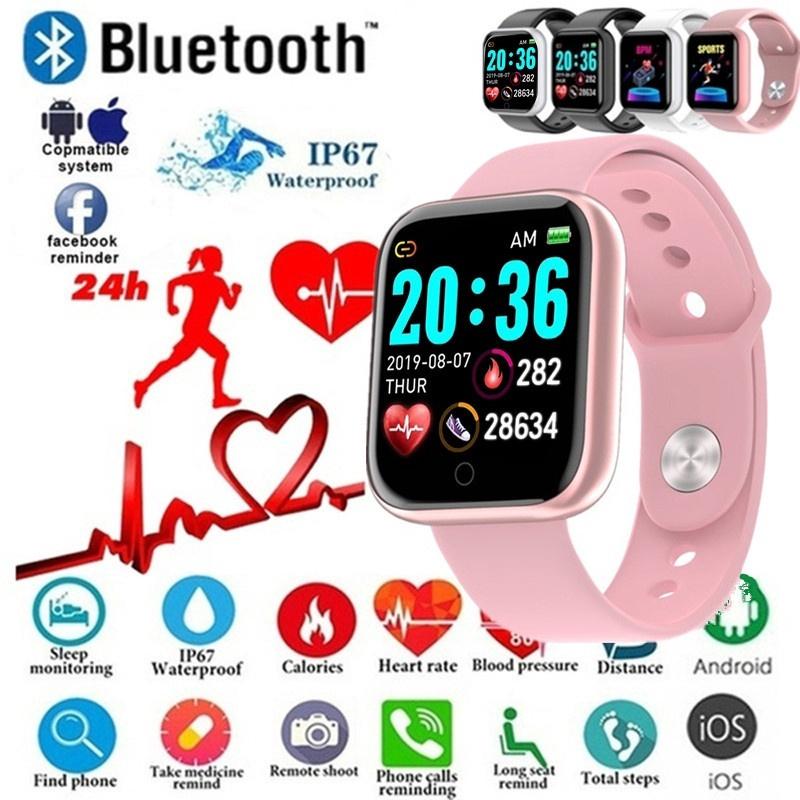 Đồng hồ thông minh nam nữ smartwatch Y68 cao cấp với giây đeo mềm mại