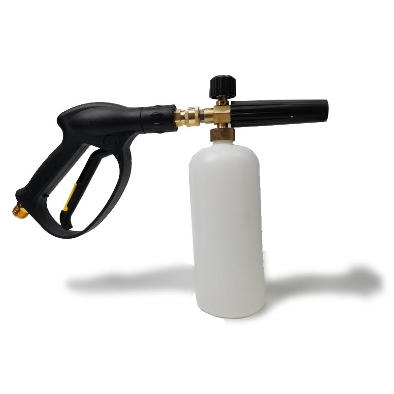 Bình tạo bọt tuyết 1 lít tặng khớp nối nhanh gắn vòi phun xịt rửa của máy rửa xe công suất cao C0004-1