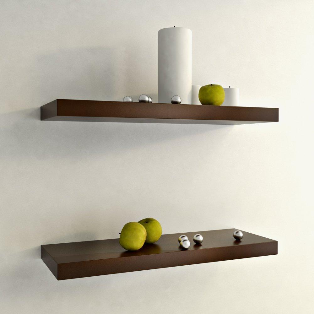 Bộ 2 Kệ gỗ treo tường trang trí nội thất cao cấp - DarkCherry