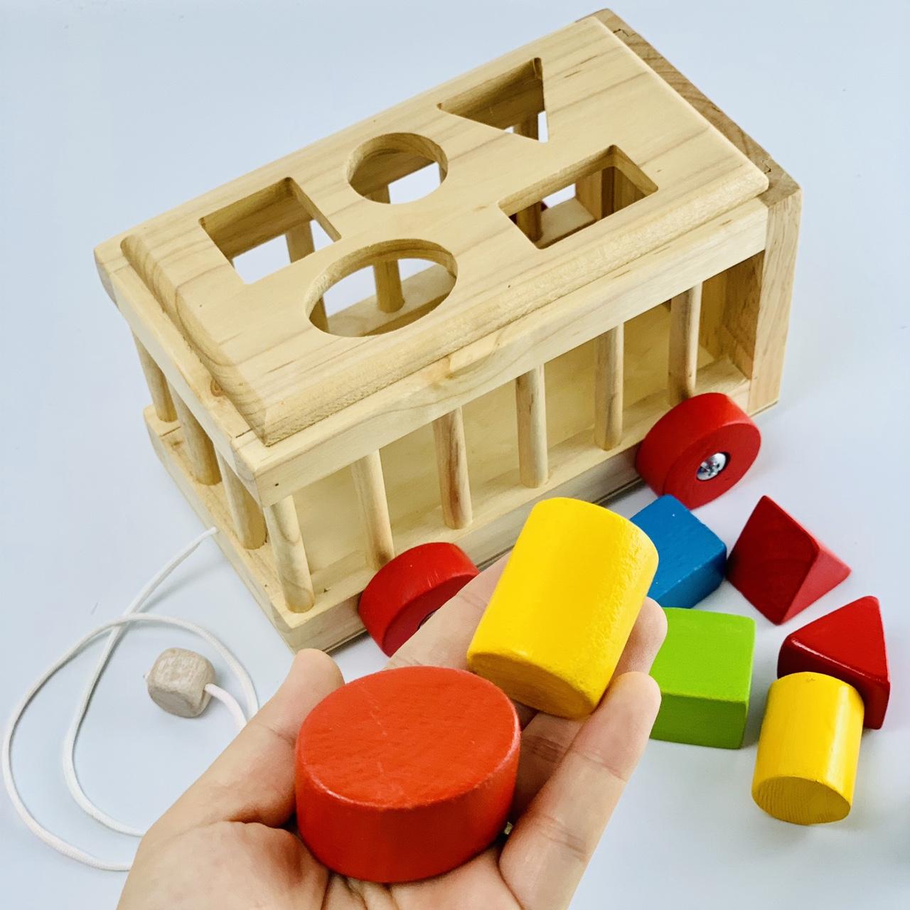 Mô hình thả khối Kids smile cho tập làm quen với hình khối cơ bản