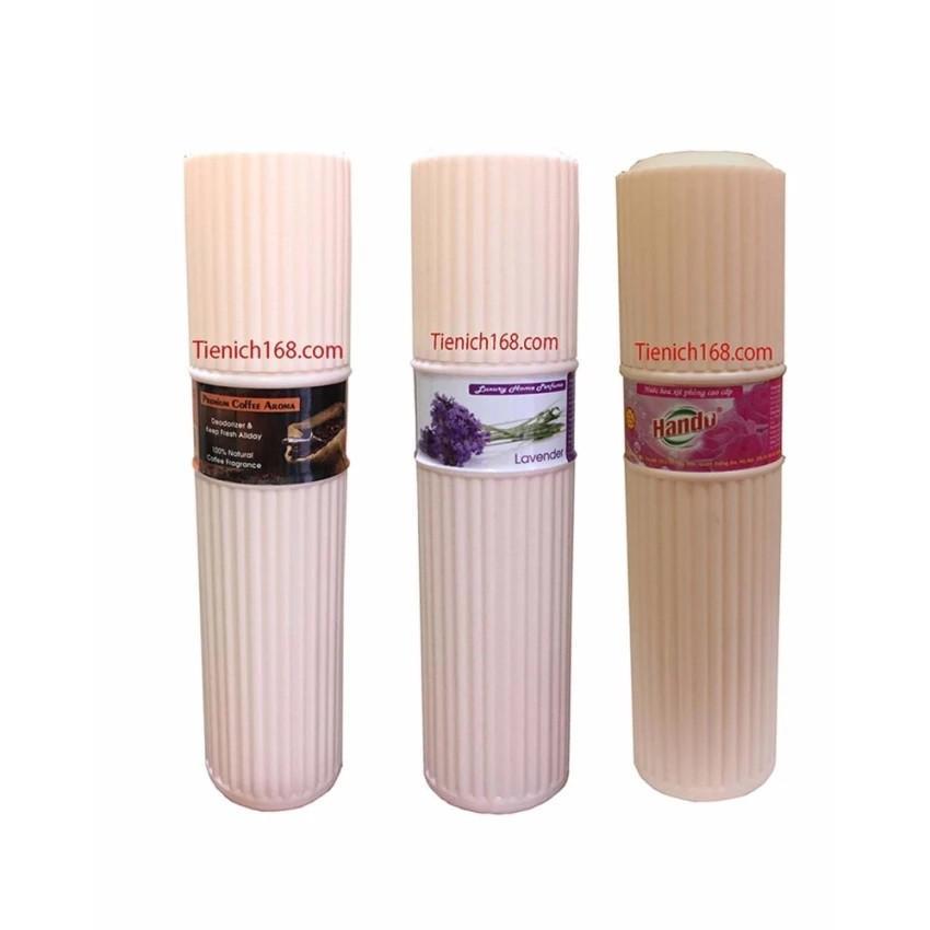 Bộ 3 Nước hoa xịt phòng khử mùi cao cấp Hando Việt Nam 200ml (Hương Hồng,Cafe,Oải Hương)