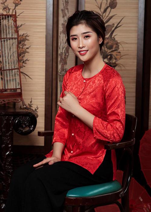 Áo Bà Ba Màu Đỏ