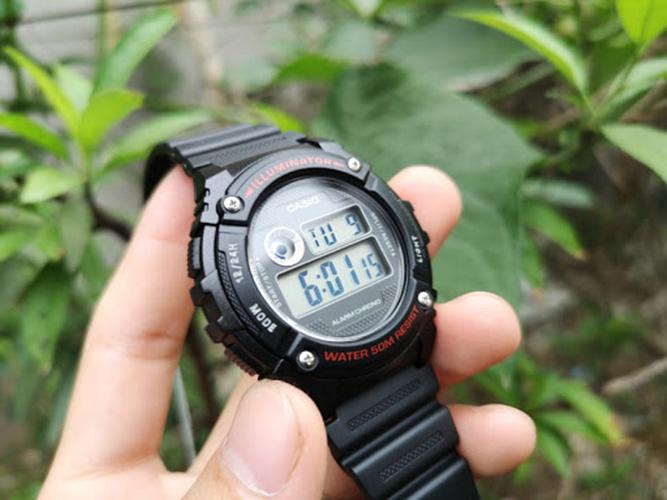 Đồng Hồ Điện Tử Nam Chính Hãng Casio W-216H-1AV Dây Nhựa