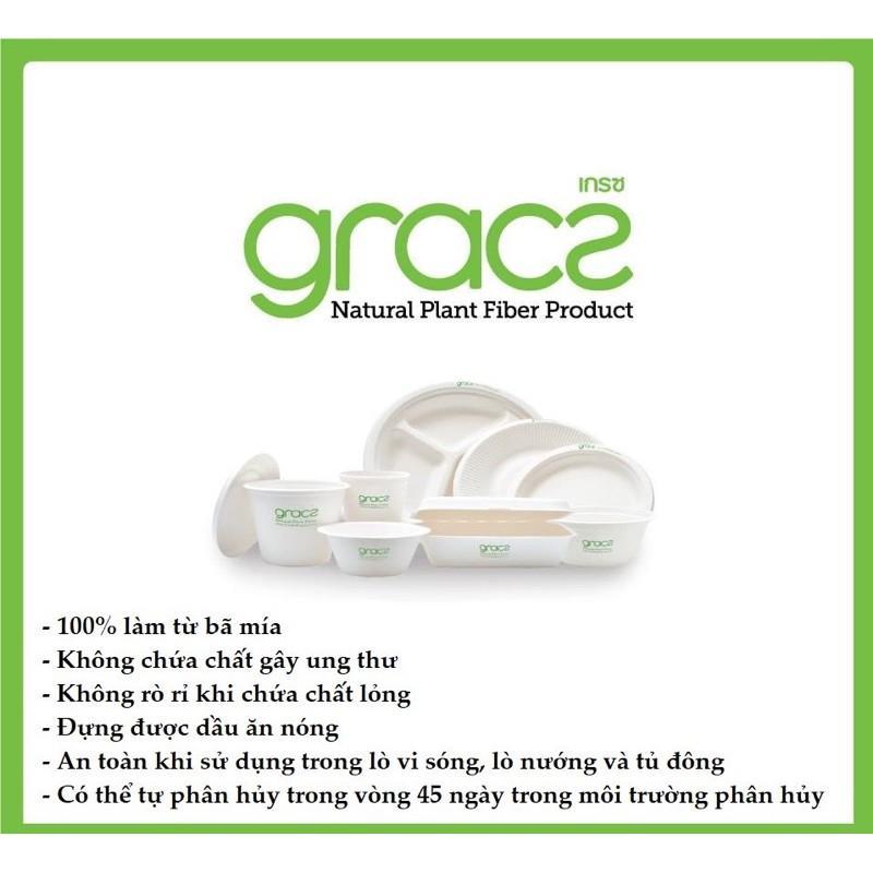 Hộp cơm bã mía Thái Lan 450ml (50 cái/xấp) - thương hiệu Gracz