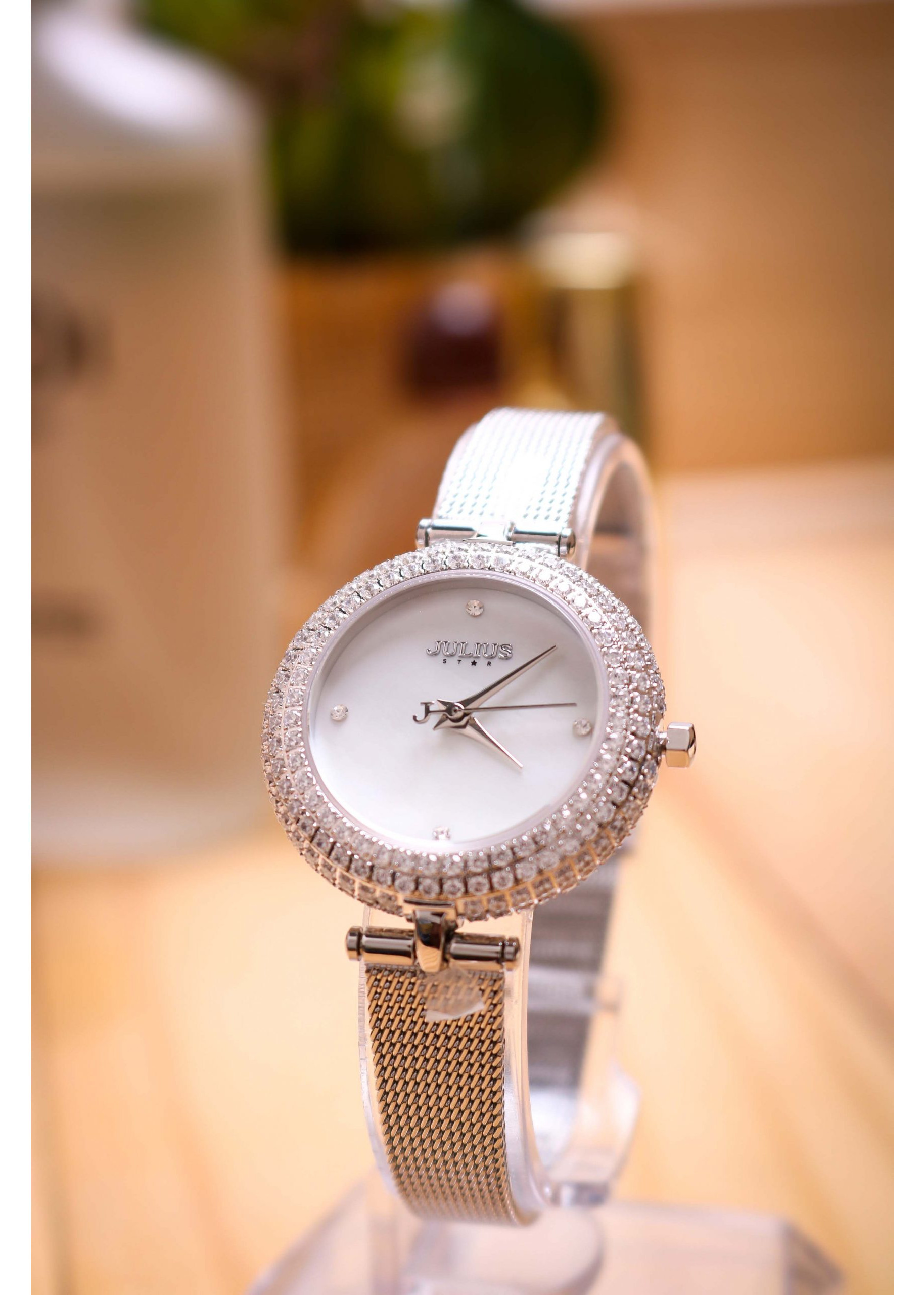 Đồng hồ nữ Julius Hàn Quốc JS-041 viền đính đá tuyệt đẹp (3 màu)