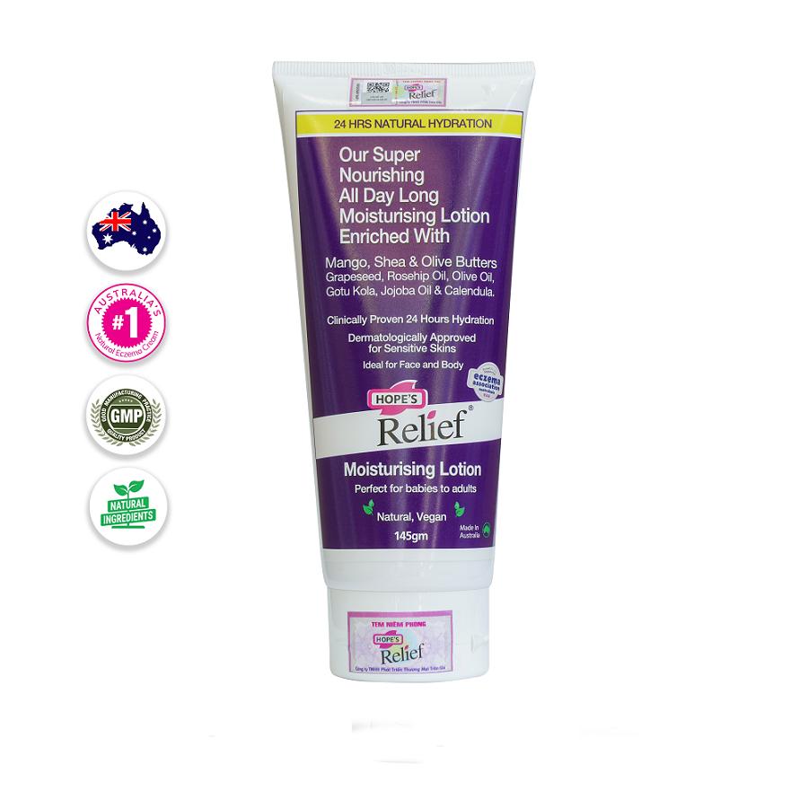 Dưỡng ẩm cho da khô ngứa, viêm da, vẩy nến, eczema Hope's Relief (145g)