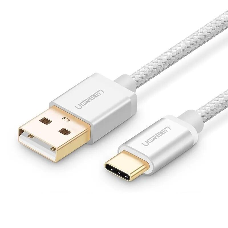 Cáp USB TypeC sang USB 2.0 Hỗ trợ sạc nhanh 3A 0.25M màu Trắng Ugreen UC20810US174 Hàng chính hãng