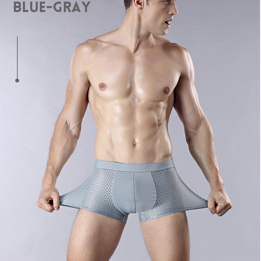 Hình ảnh Hộp 4 Sịp Đùi, Quần Lót Boxer Thông Hơi Cao Cấp Dành Cho Nam tặng kèm 1 đôi tất nam