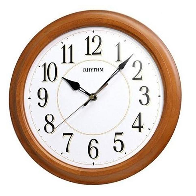 Đồng hồ treo tường RHYTHM (Wooden Wall Clocks) CMG131NR07 (Kích thước 30.0 x 4.6cm)
