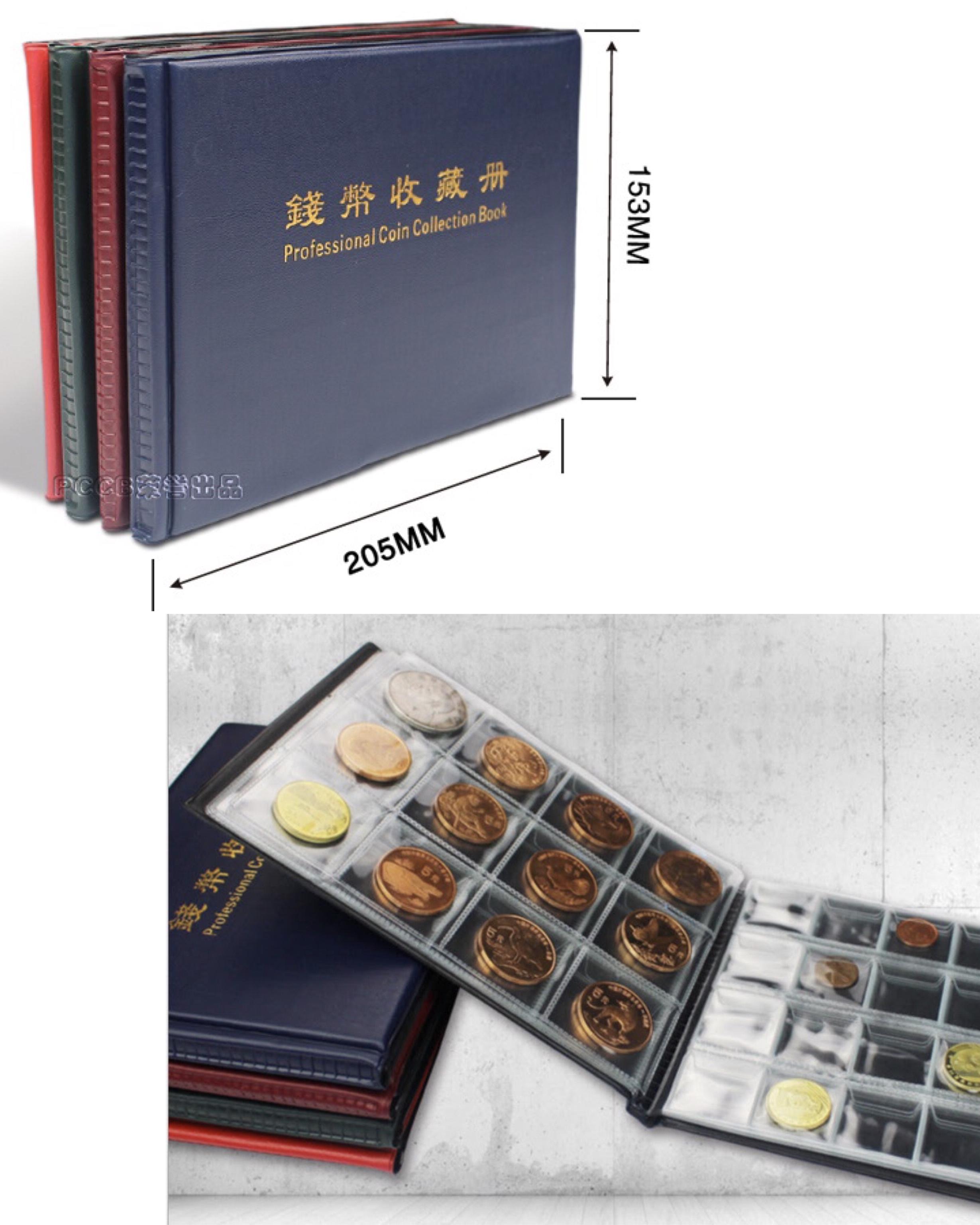 Quyển Album đựng tiền xu Mini 180 ngăn - PASA - có thể đựng được Xu Lớn và Xu Nhỏ (màu ngẫu nhiên)