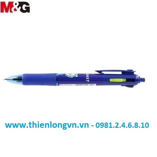Bút bi 4 màu M&G - ABP803S6 xanh tím than