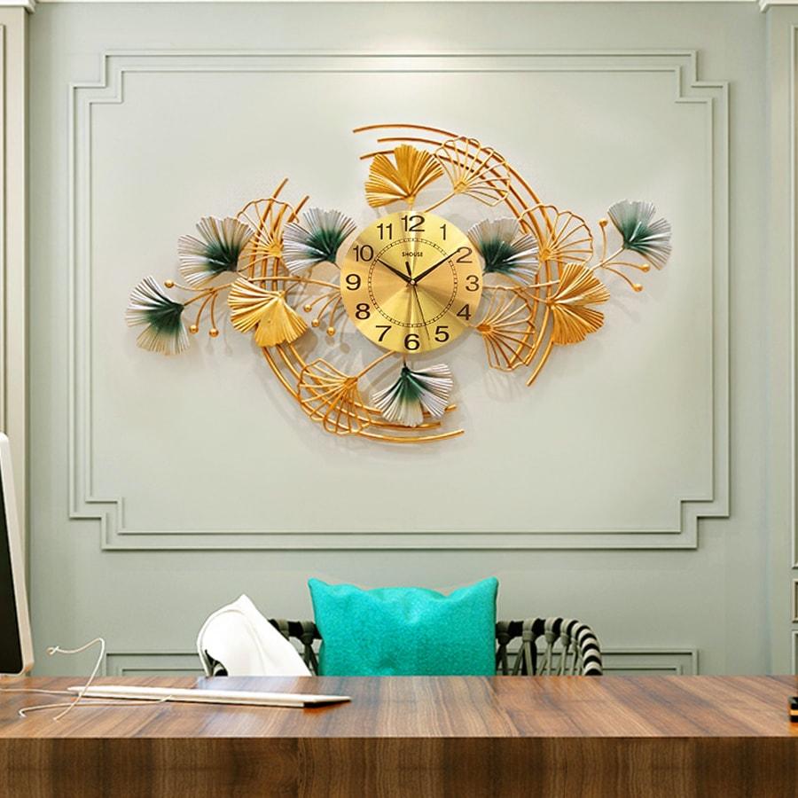 Đồng Hồ Treo Tường Trang Trí Đẹp Shouse DC168 độc lạ 3d cỡ lớn nghệ thuật phù hợp cho phòng khách, phòng ngủ