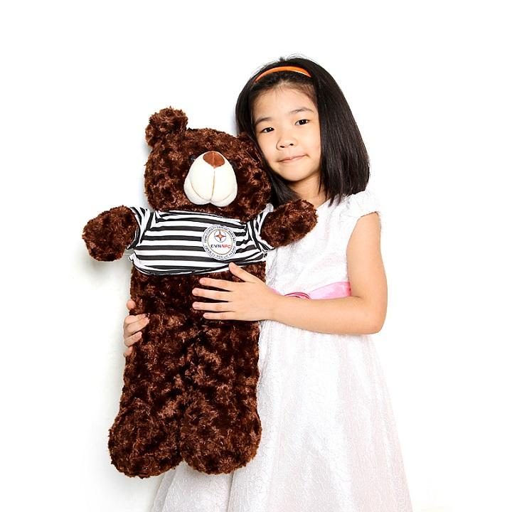 Gấu bông Teddy xinh xắn size 60cm - Tặng khẩu trang thời trang vải Su - Gấu Bông Sóc Nhí