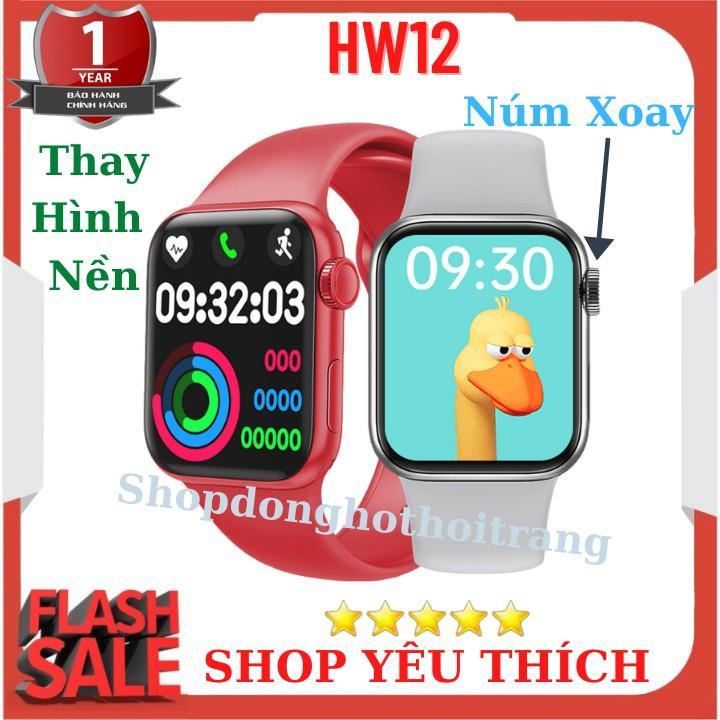 Đồng Hồ Thông Minh HW12 Tiếng Việt , Nghe Gọi , Thay Đổi Hình Nền , Nút Xoay Digital Crown cực mượt