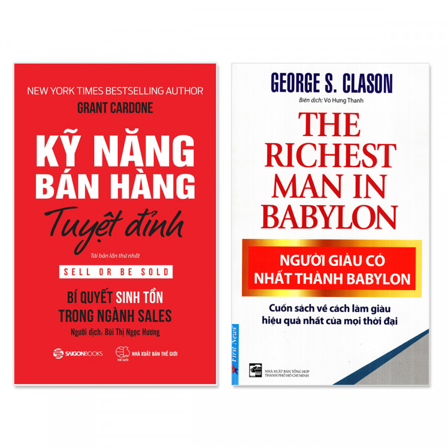 Combo 2 cuốn: Người Giàu Có Nhất Thành Babylon, Kỹ Năng Bán Hàng Tuyệt Đỉnh