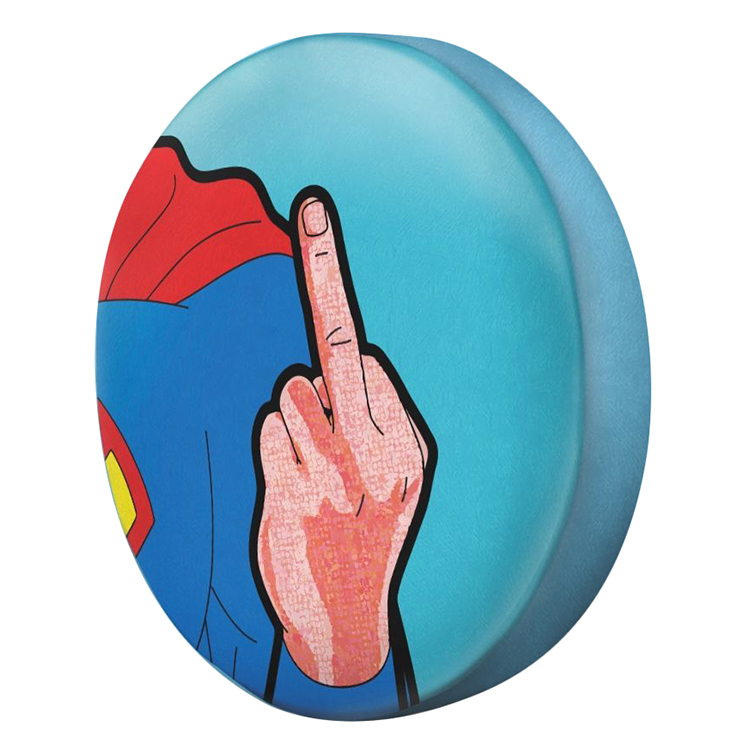 Gối Ôm Tròn Superman Giơ Ngón Giữa GOFU060
