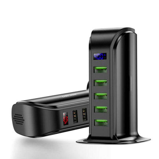 Bộ sạc nhanh 5 cổng hiển thị kỹ thuật số thông minh -US01- Hàng Chính Hãng