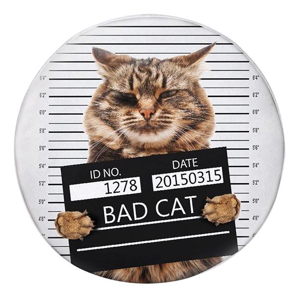 Gối Ôm Tròn Mèo Bad Cat GOAA154
