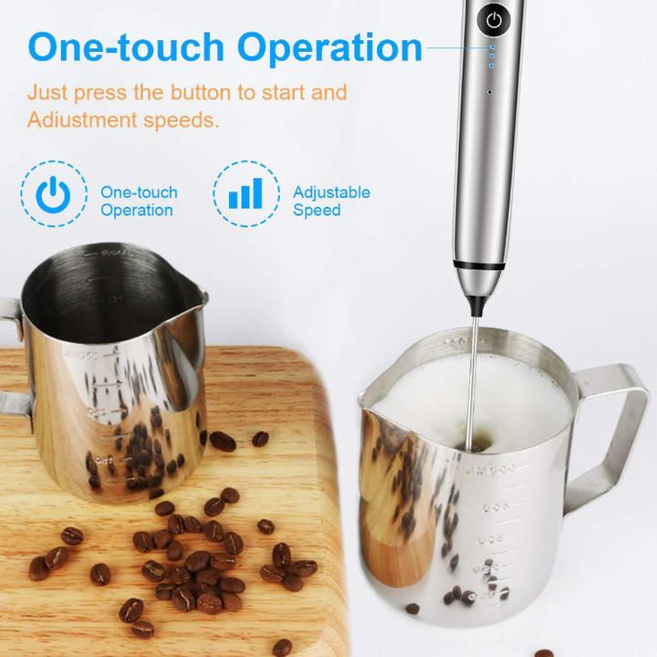 Máy tạo bọt cafe, sữa, đánh trứng mini cầm tay MFB1501D kích thước nhỏ gọn, tiện dụng
