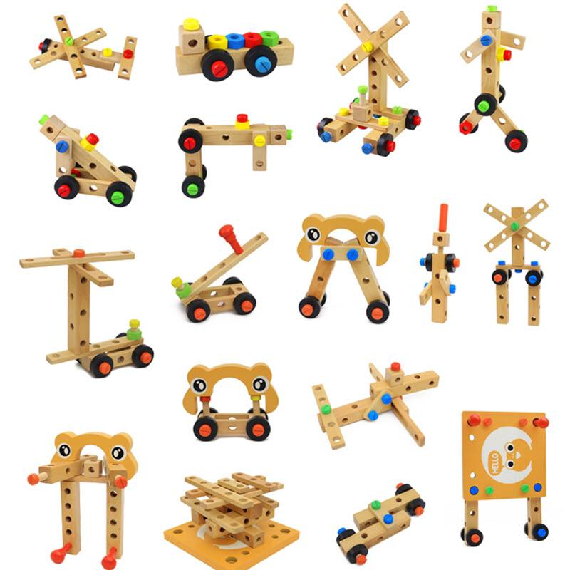 Đồ chơi lắp ghép hình ghế bằng gỗ cho bé