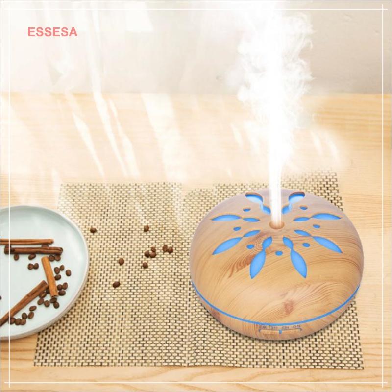 Máy tạo ẩm/khuếch tán tinh dầu hình bí ngô họa tiết cánh hoa Essesa - Chính hãng (Giao màu ngẫu nhiên)