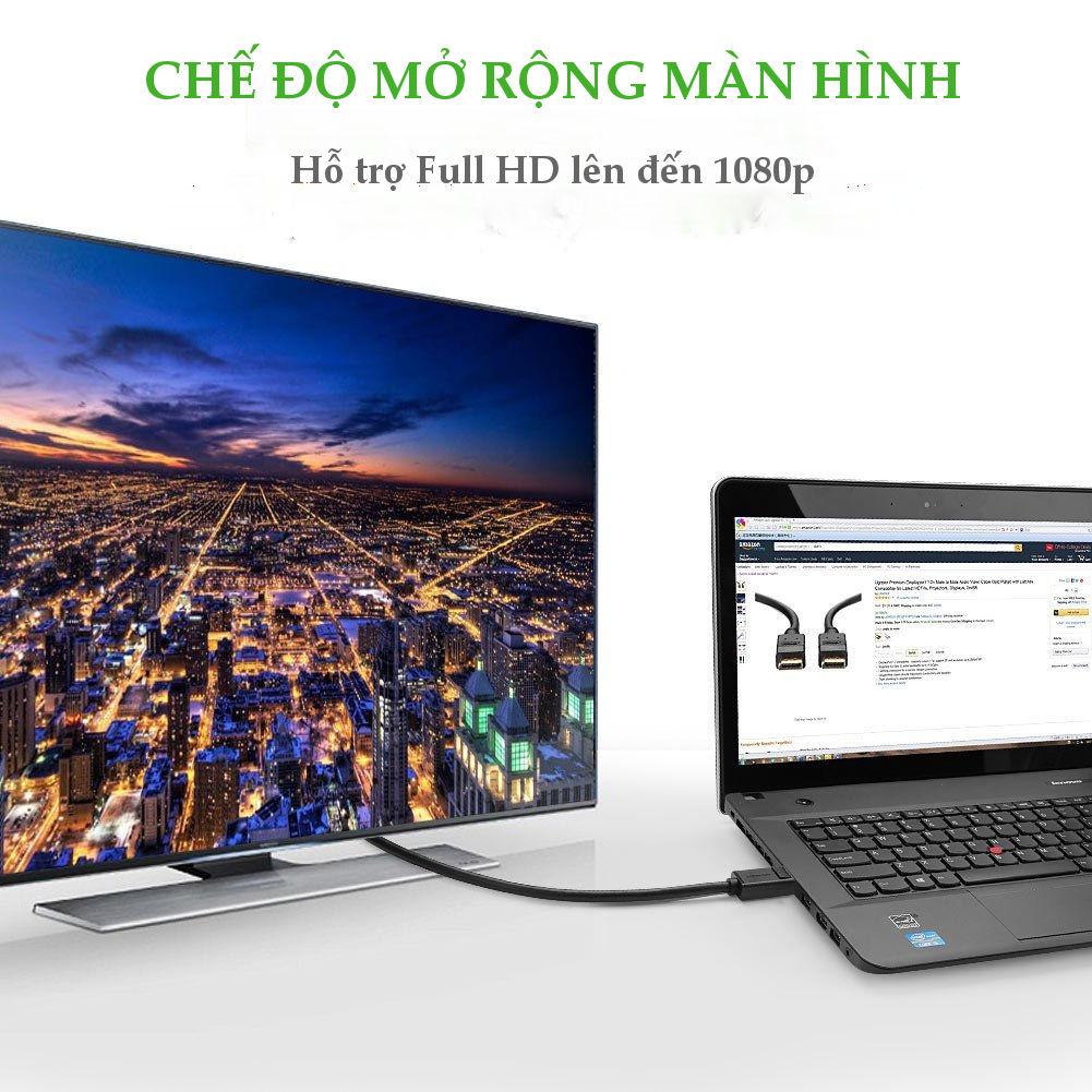 Dây cáp chuyển đổi DisplayPort sang HDMI DP101- UGREEN 10238 - 2m - Hàng Chính Hãng