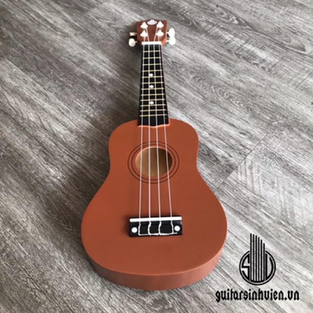 Đàn ukulele màu nâu - cỡ soprano tặng phụ kiện