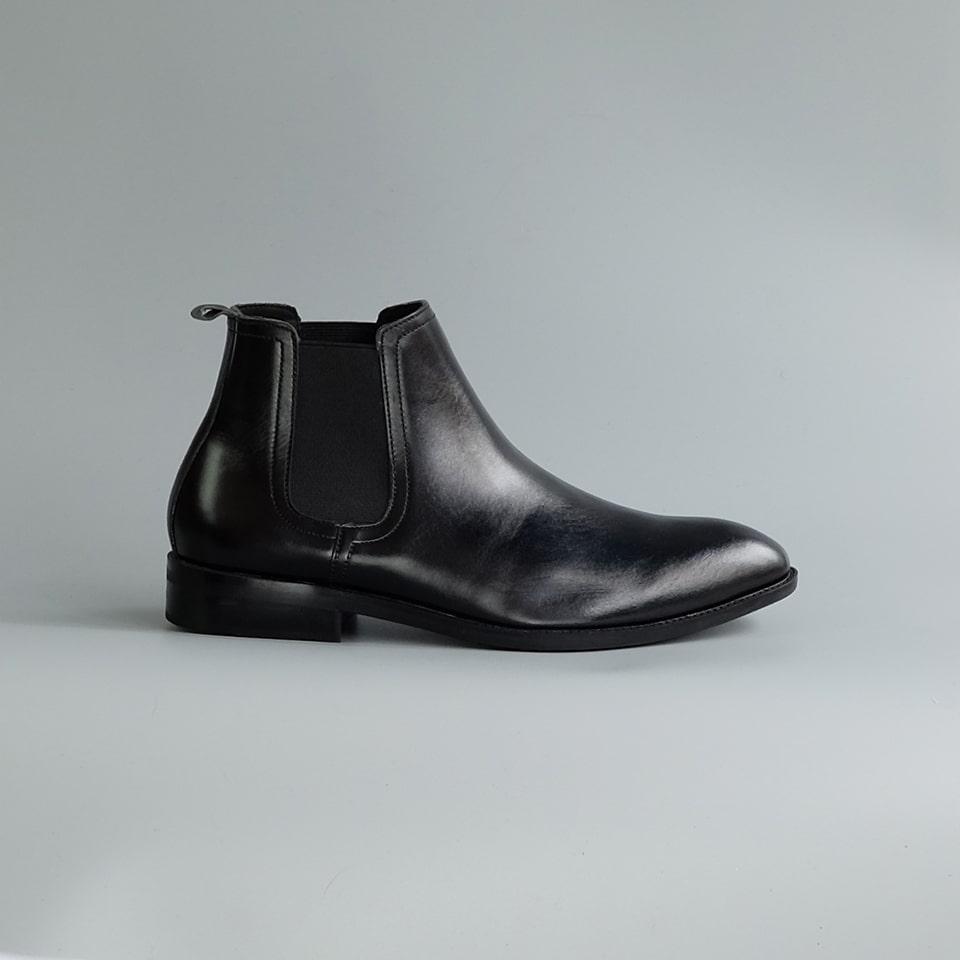 Giày Nam Chelsea Boot Cao Cổ Cao Câp Fu Khang Mã Sp FK00111 - Da Bò Thật Trơn Xịn Không Nhăn