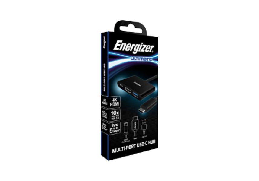Bộ chuyển USB-C3.1 Hub Energizer USBA/USB-C/HDMI - HC303CV - Hàng Chính Hãng