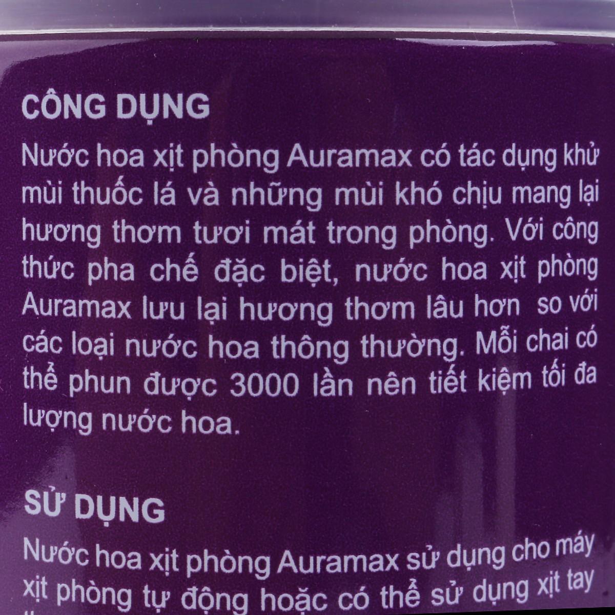 Nước hoa xịt phòng Auramax 300ml hương Midnight scent (hương đêm)