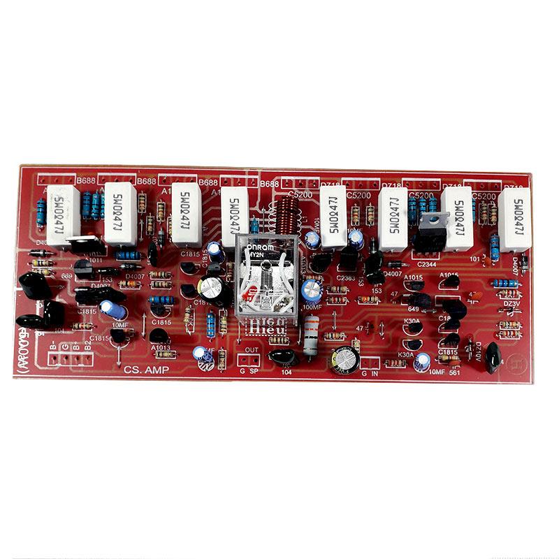 Board Khuếch Đại Công Suất 8 Sò 250W Có Relay Bảo Vệ