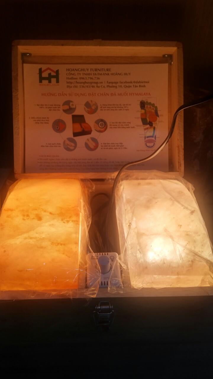 Đá muối massage Himalaya cao cấp cong 2 viên chính hãng Madala