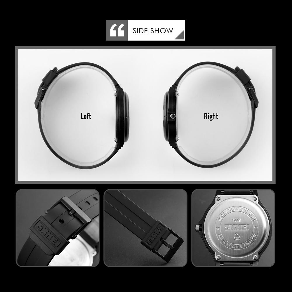 Đồng hồ đeo tay Skmei - 1449BKWT-Hàng Chính Hãng
