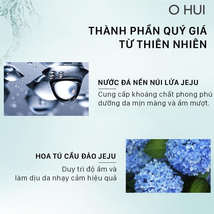 Bộ cấp nước dưỡng ẩm da sáng trong OHUI Miracle Aqua Set 6 món