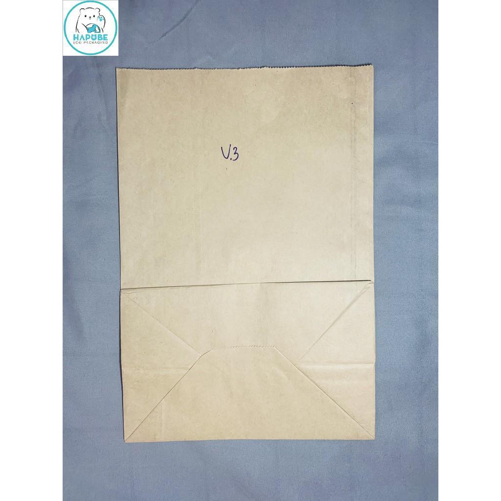 100 túi giấy kraft Nhật K2027 không quai đựng đồ ăn 19x12x28.5cm
