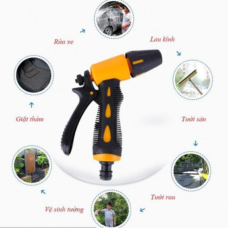 Vòi xịt nước tăng áp thông minh rửa xe, tưới cây có đầu xoay tiện lợi